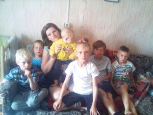 Помощь многодетной семье Журавлёвых