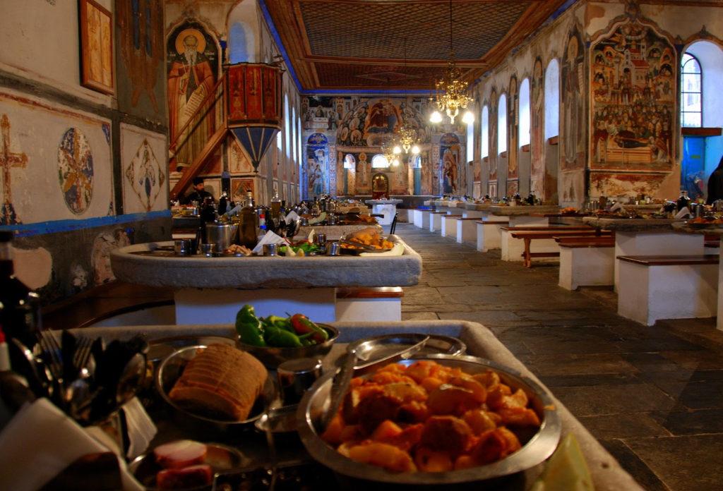 Трапезная Ватопедского монастыря