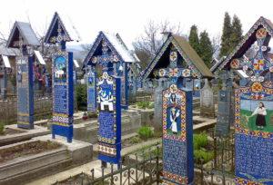 «Веселое кладбище» села Сэпынца (Румыния)