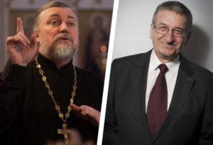 свящ. Петр Коломейцев и Борис Братусь