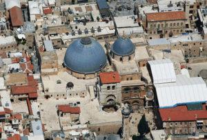 Монастырь на крыше Храма гроба Господня