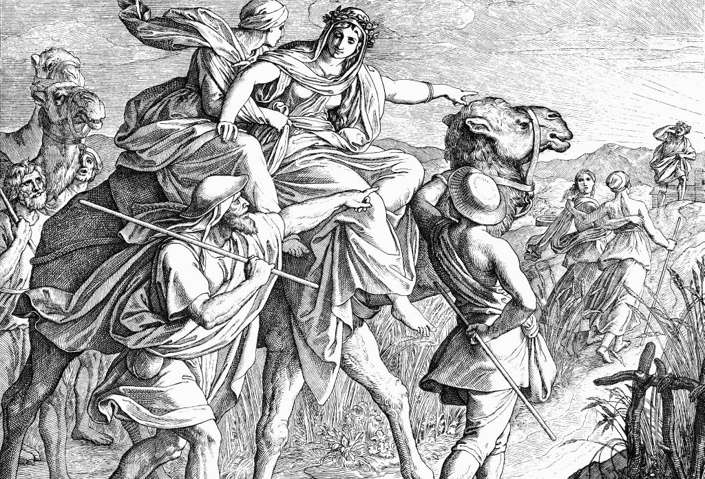 Ревекка увидела Исаака