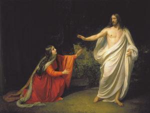 Сцена явления Христа Марии Магдалине