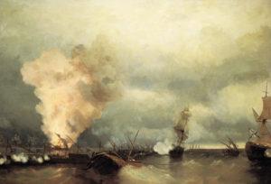 Айвазовский. Морское сражение при Выборге