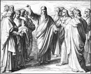 Напутствие Иисуса двенадцати апостолам. Гравюра. Ю. Ш. фон Карольсфельд