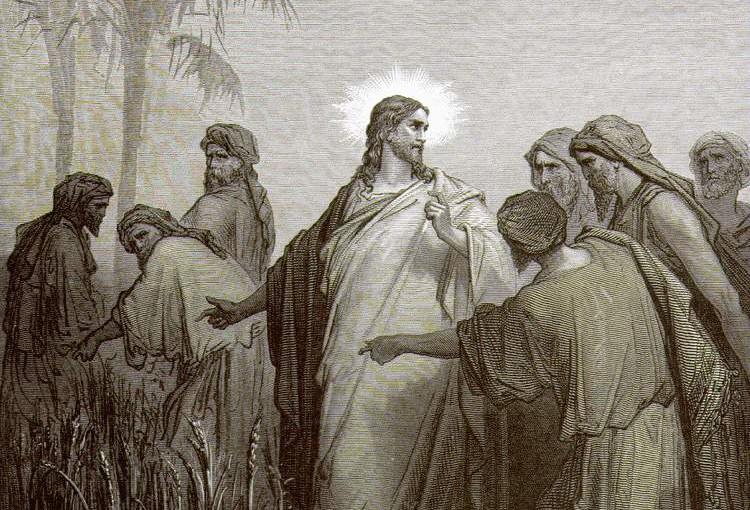 Гюстав Доре. Иисус беседует с фарисеями.